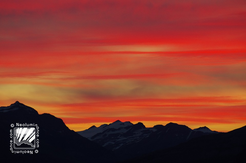 Fiery Sky Over East Fjords